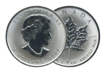 Maple Leaf Silberunze